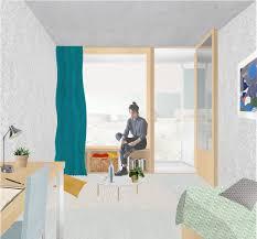 Gymnase Et Residence Etudiante 4 Rendu Archi Pinterest
