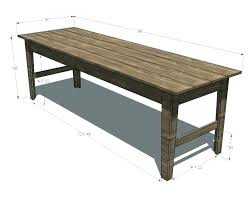 Narrow dining table with bench Modern Idea Bobitaovodainfo Narrow Trestle Dining Table Menschkunstinfo