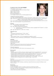 8 Cv Model In English Reporter Resume