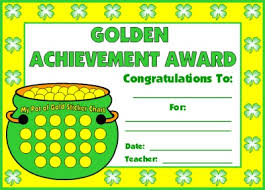 achievement awards for elementary students 9 best images of sticker chart writers achievement award