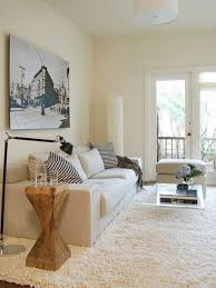 Shaggy Rugs For Living Room Ivory Colour Living Room With Couch And Glass Coffee Table And