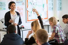 average high school teacher salary 2017 updated income figures teenage students learning in classroom