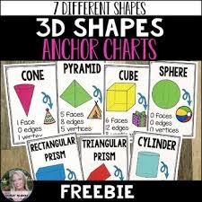 3d Shapes Anchor Charts Free