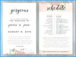 Wedding Schedule Of Events Template Order Of Events Wedding