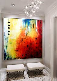 square abstract art contemporary wall art large abstract canvas painting handmade acrylic painting abstract wall art abstract canvas art red orange  on large abstract wall art cheap with modern art home decor