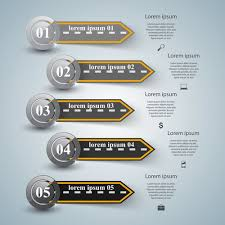 Road Infographic Template Vectors Material 05 Eps File Free