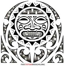 Aztec Tattoo Patterns Beauteous Aztec And Mexican Tattoos Hispanic Tribal Chicano Gang And Prison
