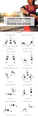 strength and cardio bodyweight routine for women strengthen your whole body reduce stress and boost your calorie burn at home with this