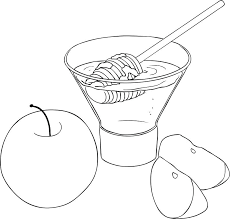 Apple For Coloring Vector Illustration Coloring Page Of Honey And