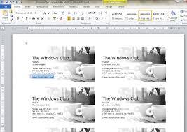 microsoft business card how to design business cards using microsoft word