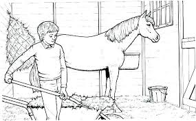 Coloring Pages Printable Race Horse Coloring Pages Free Download