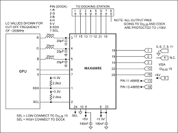 reference design for switching vga signals in a lapt maxim application circuit for a vga connection between a laptop and docking station features