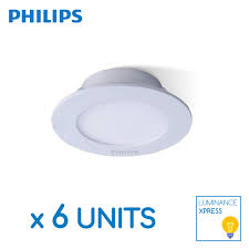 philips essential smartbright led downlight 5 inch round 11w 6 units