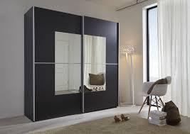 Schwebetürenschrank Schwarz Mit Spiegel Navena2 Designermöbel