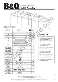 blooma skye garden party gazebo manual instructions 3x9