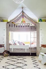 Bunk Beds with Canopy - Contemporary - Girl's Room