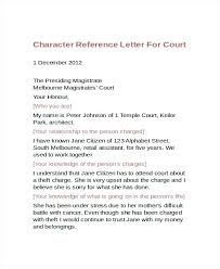 Personal Character Letter Samples Personal Character Reference Letter Template For Court