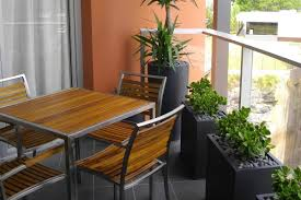 narrow balcony furniture. Narrow Planters And Compact Furniture Make Maximum Use Of A Small Balcony
