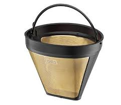 Consumers use gold coffee filters to replace paper ones, the latter of which are available in two basic varieties: Cilio Premium Gold Coffee Filter Size 4