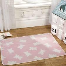 image of pink nursery rug for girls