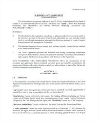 Subordination Agreement Template – Appnews