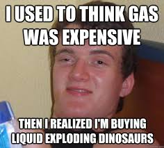 I used to think gas was expensive Then I realized I'm buying ... via Relatably.com