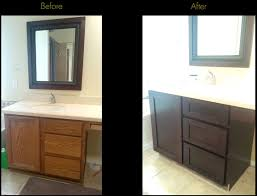 bathroom cabinet refacing before and after. Cabinet Refacing Before \u0026 After Bathroom And