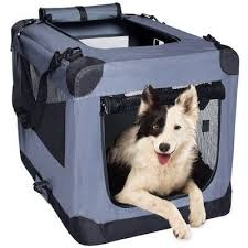 offering incredible versatility in a soft sided carrier this indoor outdoor dog crate has a record three doors enabling front side and top entry