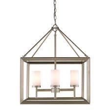 golden lighting s smyth 4 light chandelier white gold opal glass 2073 4 wg
