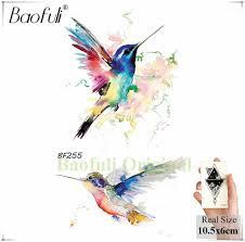 Baofuli с рисунком слона баллон временные водные переводные картинки флэш Fox арт