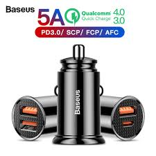 <b>Baseus</b> 30 Вт Быстрая <b>зарядка</b> 4,0 3,0 USB Автомобильное ...