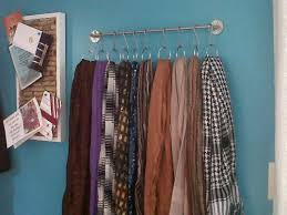 Smashing Scarf Organizer In Diy Scarf Organizer Ideas Along in Scarf Holder