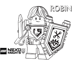Small Picture Robin Coloring Page Printable Sheet LEGO Nexo Knights