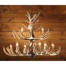 castlecreek 9 light whitetail antler chandelier
