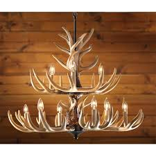 castlecreek 9 light whitetail antler chandelier