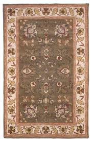 royal 5x8 wool hand tufted traditional area rug carpet green blue brown burdy