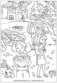 Basket Of Apples Colouring Page