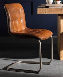on vintage leather dining chair