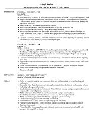Program Coordinator Resume Samples Velvet Jobs