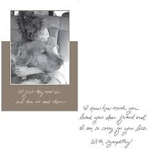 sympathy card pet dog speak pet sympathy card