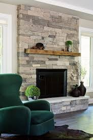 chic stacked stone fireplaces ideas