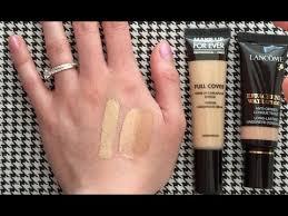 make up for ever full cover concealer vs lancôme effacernes waterproof undereye concealer