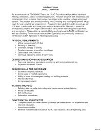 Hvac Resume Examples Entry Level Hvac Resume Sample Collection Of Solutions Beauteous 24