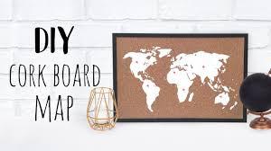 Image World Map Diy Cork Board Map Youtube Diy Cork Board Map Youtube