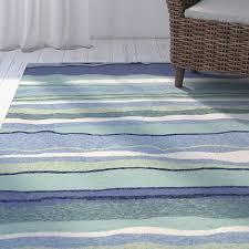 5x8 5 x 7 6 tropical coastal beach stripe blue green