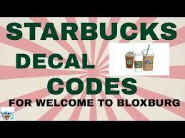 The codes are 201598070 696. Bloxburg Starbucks Id Codes 05 2021