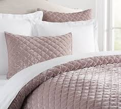 Cal King Quilted Bedding | Pottery Barn & Nia Velvet Quilt, King/Cal. King, Light Orchid ... Adamdwight.com