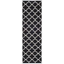 safavieh montauk black ivory 2 ft 3 in x 7 ft runner