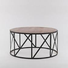 Details About Industrial Style Coffee Table Large Round Coffee Table Large Circular Table