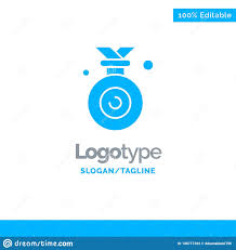 Design An Olympic Medal Template Medal Olympic Winner Won Blue Solid Logo Template Place